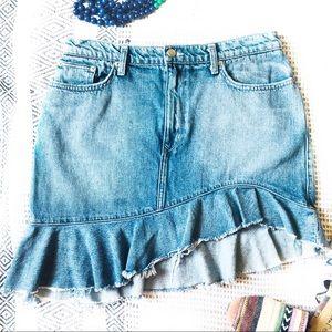 Lovers + Friends Revolve Denim Skirt